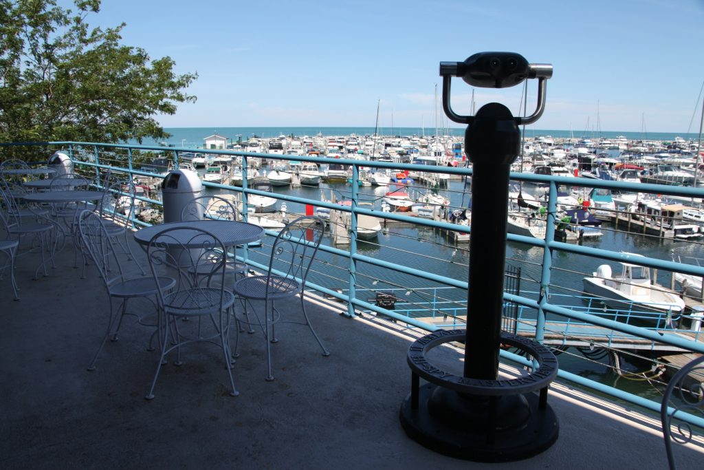 Overlooking the Marina from the Clipper Room balcony.